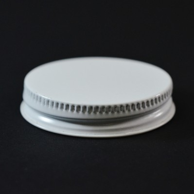 48/400 CT White White Metal Continuous Thread Caps