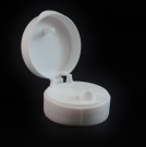33/400 Ribbed White Snaptop Dispensing PP Cap