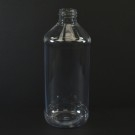 16 oz 28/410 Modern Round Clear PET Bottle
