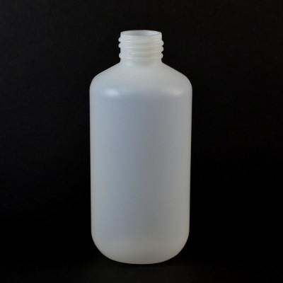 6 oz 24/410 Boston Round Natural HDPE Bottle