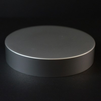 89/400 Matte Silver Metal Overshell Straight Sided Cap F217