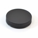 53/400 Black Ribbed Straight PP Cap / PS Liner - 1300/Case