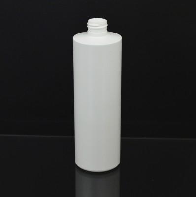 12 OZ 24/410 Cylinder Round White HDPE Bottle  - 327/case