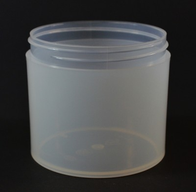 12 OZ 89/400 Thick Wall Straight Base Natural PP Jar - 100/Case