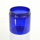 8 oz 70/400 Wide Mouth Cobalt Blue PET Jar