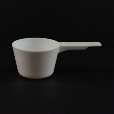 29.6 cc Plastic Measuring Scoop White Short Handle 3.237 X 1.737 X 1.158