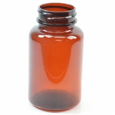 250 cc 45/400 Amber Nutritional Supplement PET Packer - 168/case