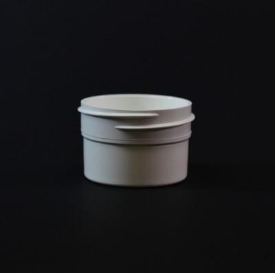 1/2 OZ 43/400 Regular Wall Straight Base White PP Jar - 1664/Case